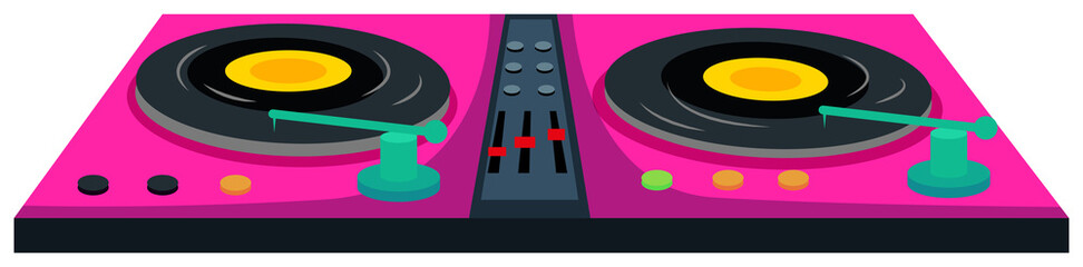 DJ music machine in pink color