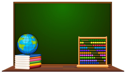 Blackboard and other school items