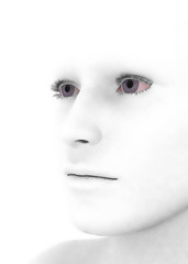 White Human Face - 3D