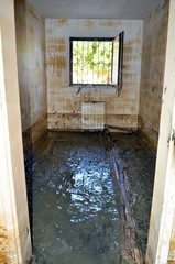 Ruined home after flood
