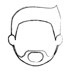 Man head icon. Male avatar person people and human theme. Isolated design. Vector illustration