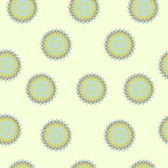 Seamless floral pastel pattern on a light background