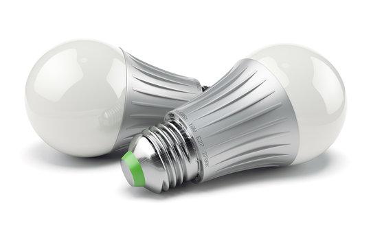 Two modern energy savings LED lamps