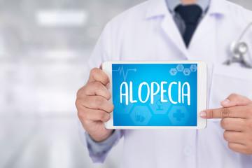 ALOPECIA male head , alopecia air loss haircare medicine bald tr