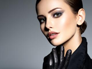 Woman makeup face fashion beautiful portrait
