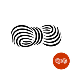 Yarn black elegant icon