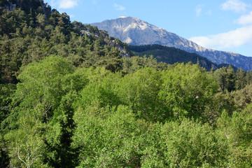 Wild mountain range, Likya Yolu hiking trail, Turkey