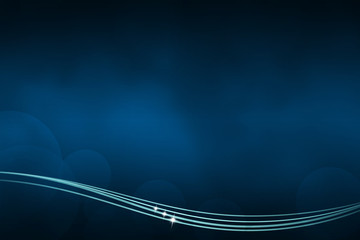 Abstract dark blue background with lines at the bottom