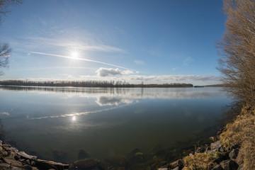danube river reflection