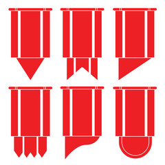 red ribbons, banners