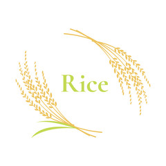 rice logo design on white background, vector