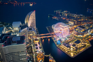 Night at Yokohama bay