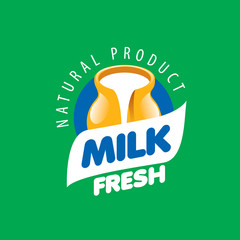 vector logo milk