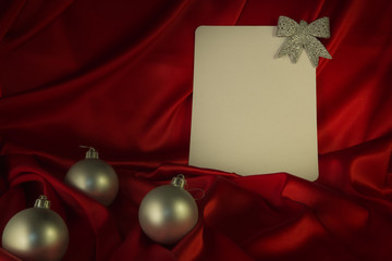 fiery-red background for Christmas and New Year congratulations