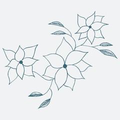 Flower sketch hand drawn. Vector Illustration.