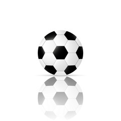Football ball isolated on white background, vector illustration. EPS 10