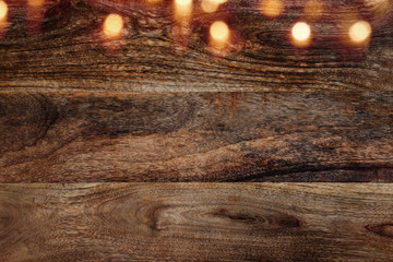 Wooden wall background horizontal with bokeh