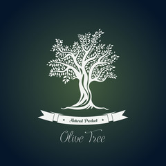 Fruit food plant or olive oil tree logo