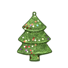 christmas decoration isolated on white background - clipping paths