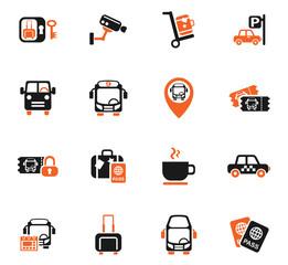 bus station icon set
