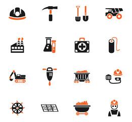 coal industry icon set