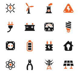 electricity icon set