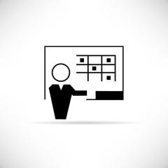 teacher, training icon