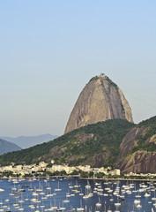 Brazil, City of Rio de Janeiro, View over Botafogo Neighbourhood towards the Sugarloaf Mountain.