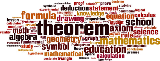 Theorem word cloud concept. Vector illustration