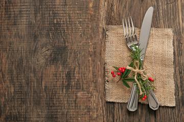 Winterliche Festtafel