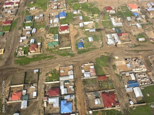 Aerial view of Juba, South Sudan