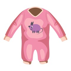 Romper for baby icon. Cartoon illustration of romper for baby vector icon for web