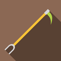 Hook icon. Flat illustration of hook vector icon for web