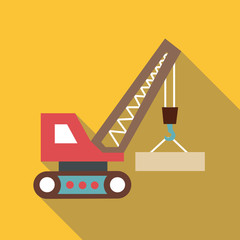 Autocrane icon. Flat illustration of autocrane vector icon for web