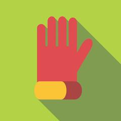Glove for biker icon. Flat illustration of glove for biker vector icon for web