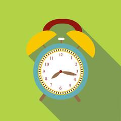 Alarm clock icon. Flat illustration of alarm clock vector icon for web