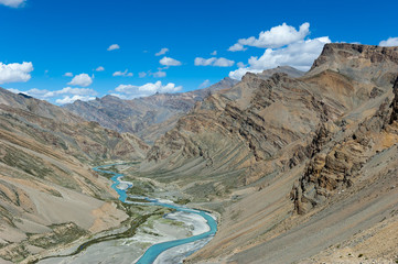 The valley of Tsarap river, Ladakh, India.