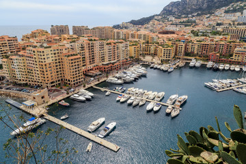 Monaco, the Principality of Monaco, view of the Fontvieille district.