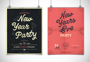 Simple New Year's Event Poster Layout