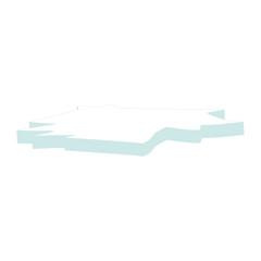 Ice Floe Icon Symbol Design. Vector Ice Floe illustration isolated on white background.