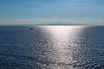 Speedboat in the sea