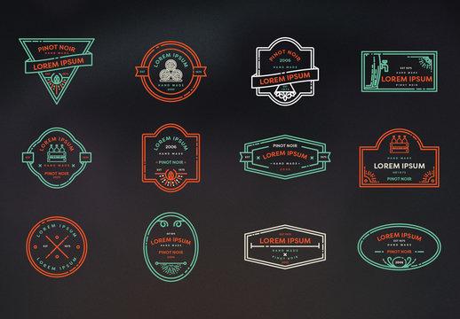 Minimalist Wine Logo Layouts 2