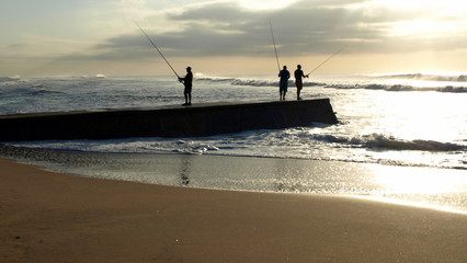 Fishermen attempting to find a catch