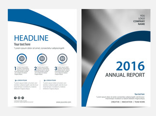 Annual report Layout design template, Brochure Leaflet Flyer template