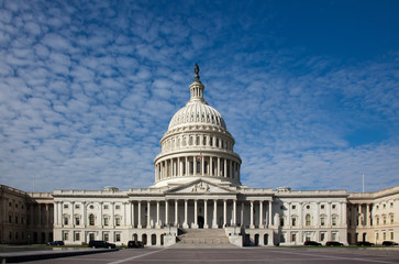 United States Capitol building . It's front view