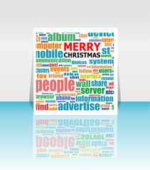 Merry Christmas - unique xmas design element. Great design element for congratulation cards, banners and flyers. Happy new year