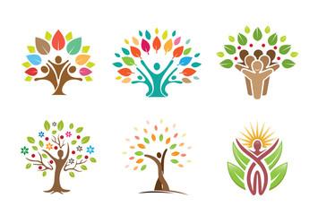 Tree People Symbol Design
