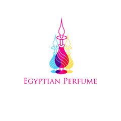 Vector Egyptian perfume