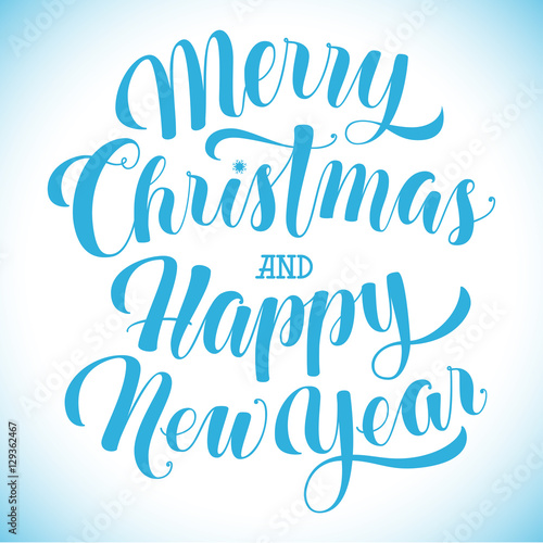 merry christmas and happy new year text greeting card banner poster template