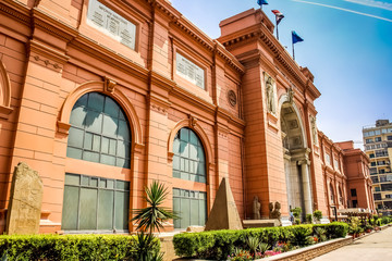 Cairo, the Egyptian Museum in Cairo, Egypt, Africa.